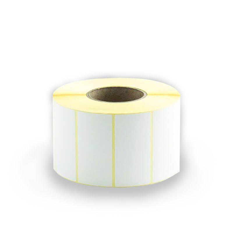 Etichette termiche in rotolo  58x31 mm mandrino Ø 40