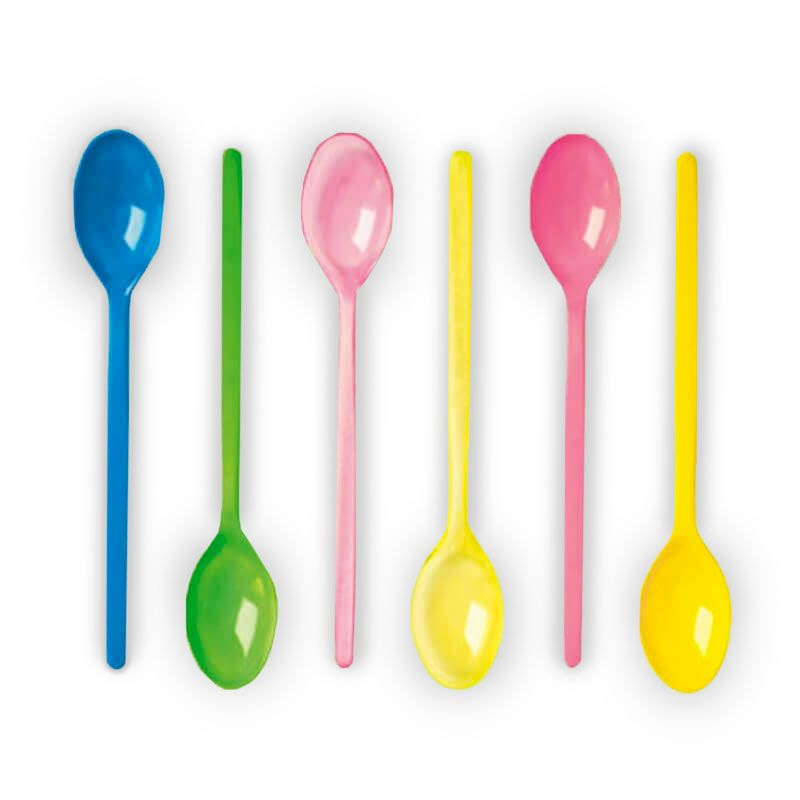 Long colored spoons