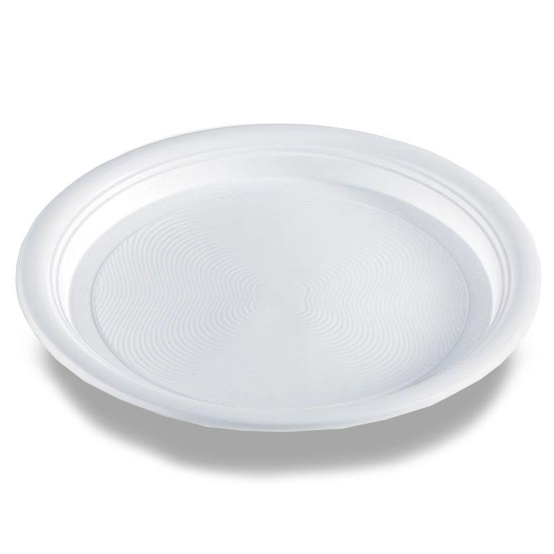 Flat plastic plates Ø 21 cm