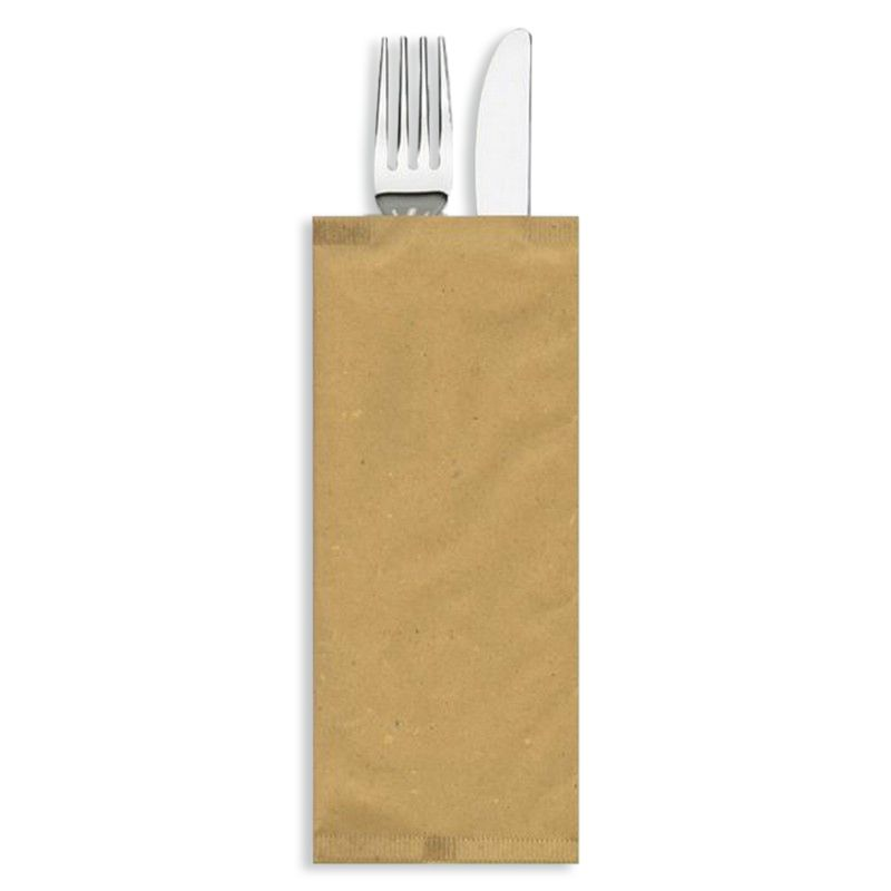 Custody in paper straw cutlery - Neutral