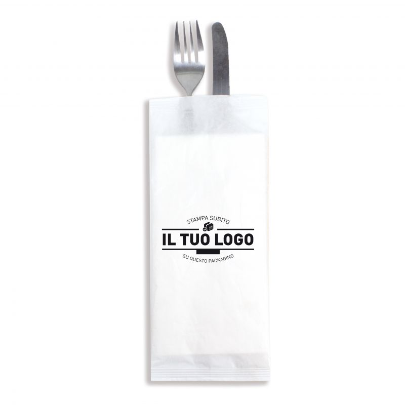 Customizable White cutlery custody