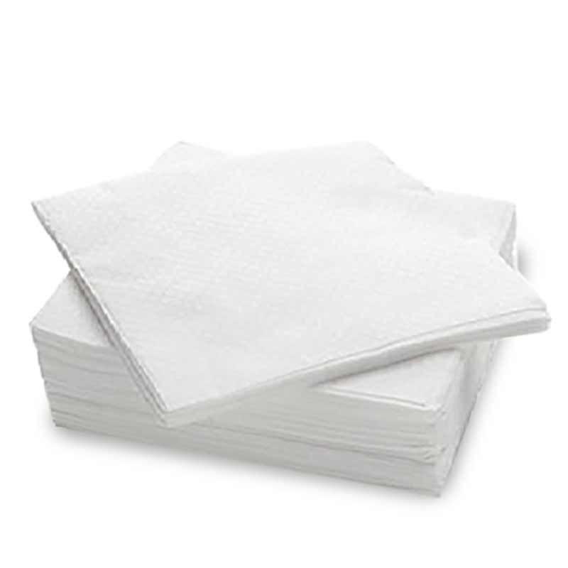 Tovaglioli bianchi 33 x 33 (16,5x16,5 cm) - 1 velo - Neutri