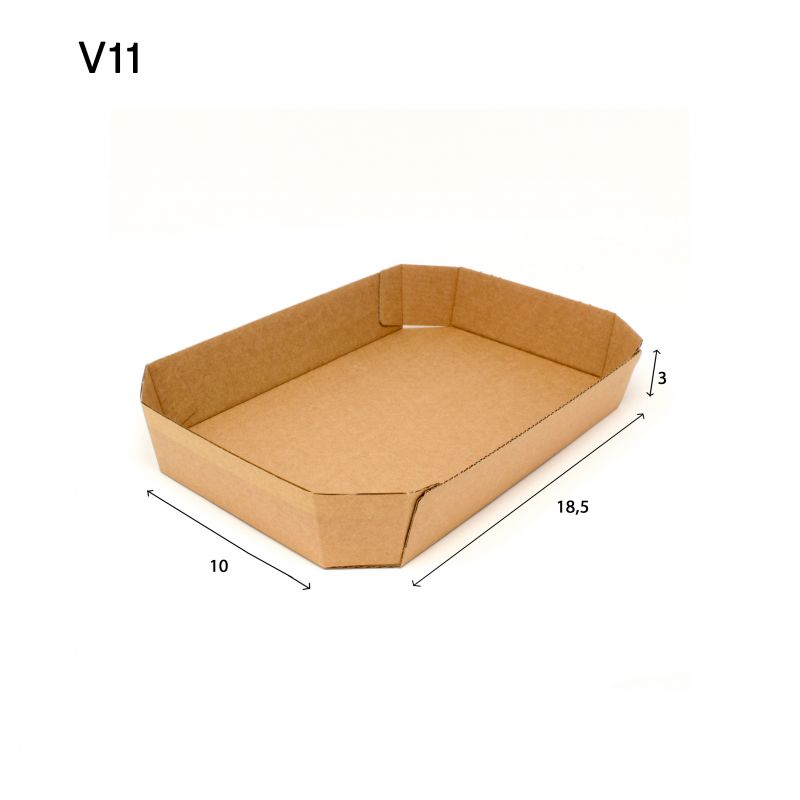 Cardboard trays for food P.11