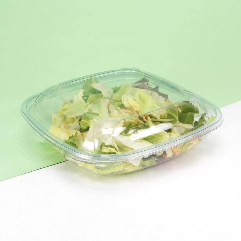 Transparent hermetic salad bowls cc750 with lid mod. MQ - Customizable