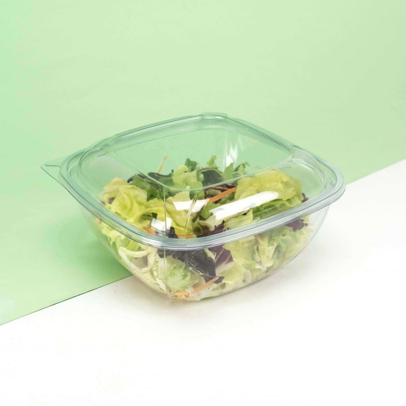 Transparent Hermetic salad bowls cc1500 with lid mod. MQ - Customizable