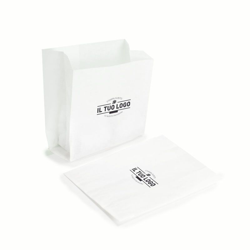 White Paper kraft bags for french fries 12+5x11 cm