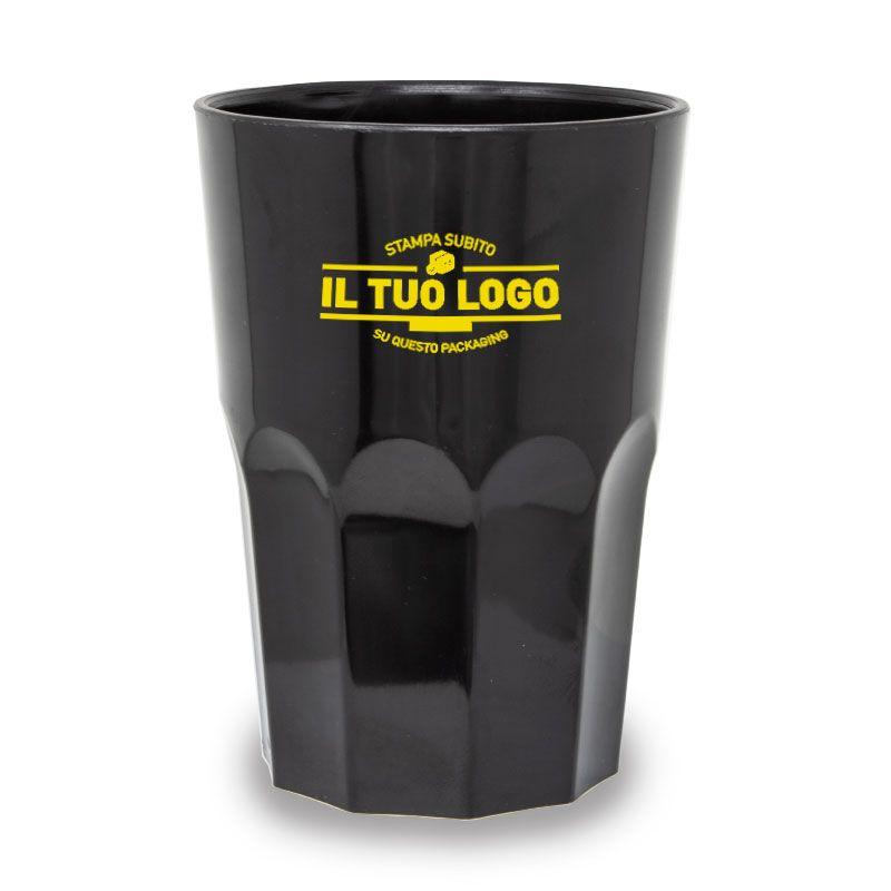 Bicchieri Rigidi Neri 350 cc