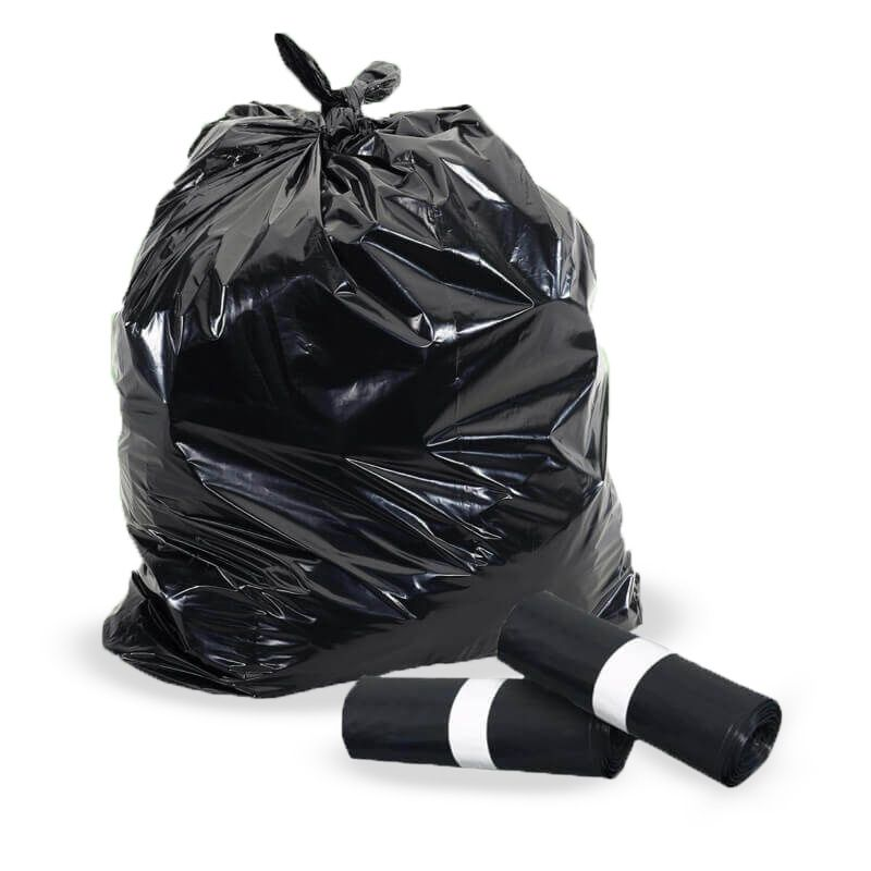 Black trash bags 90x110 cm - Heavy