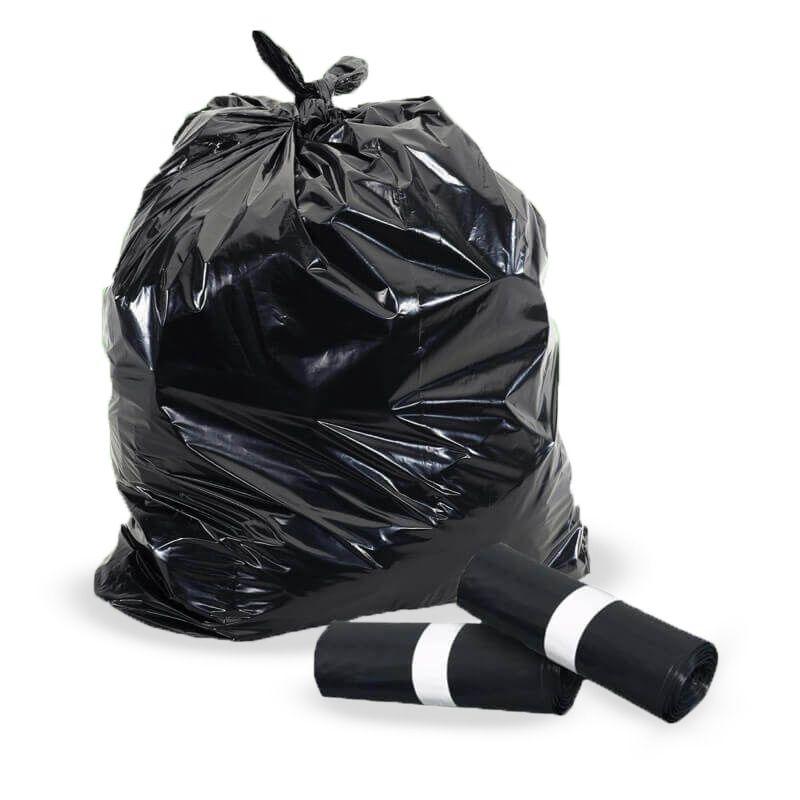 Black trash bags 70x100 cm