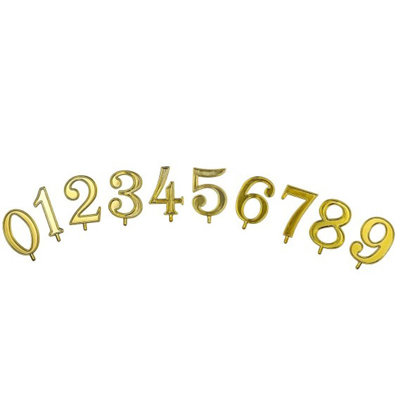 Gold assorted numbers + basis