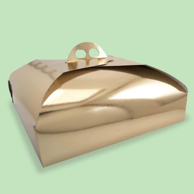 Scatola oro porta torta (100 pz.)