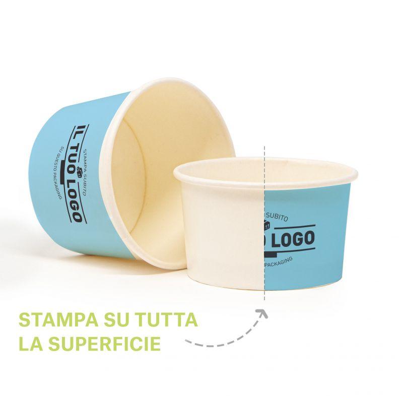 Coppette Cartoncino fondo personalizzato C100 per gelato
