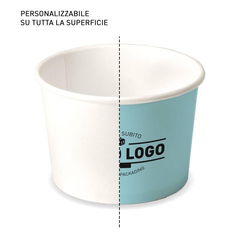 Coppette Cartoncino fondo personalizzato C120 per gelato