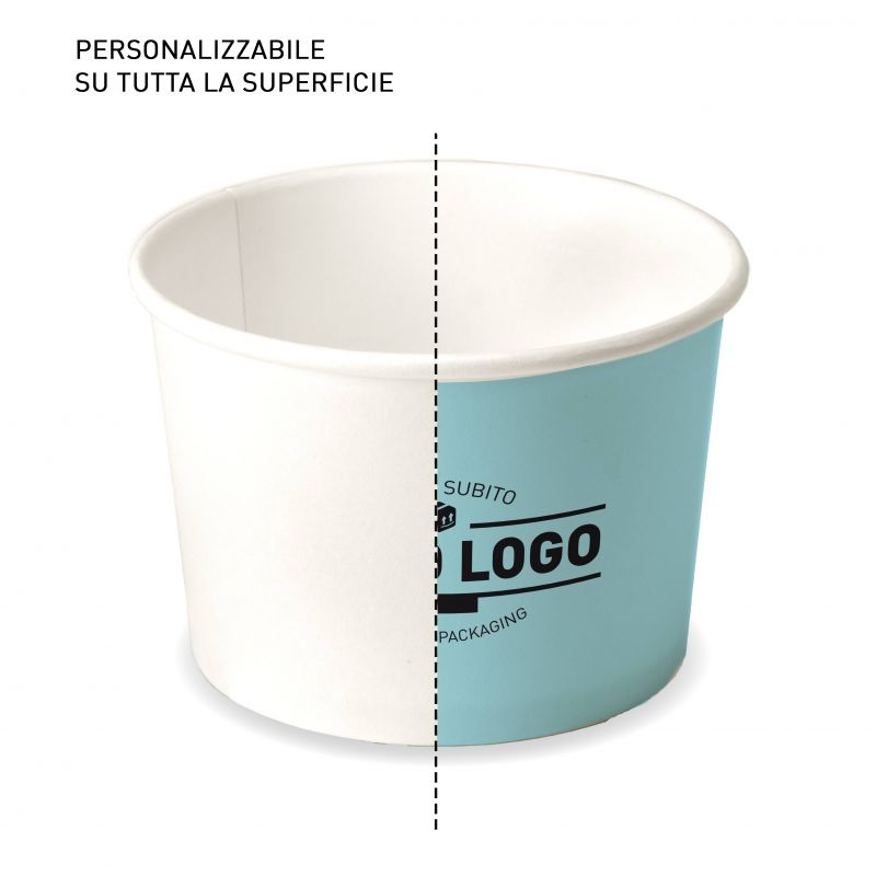 Ice cream paper cups C120 customizable surface