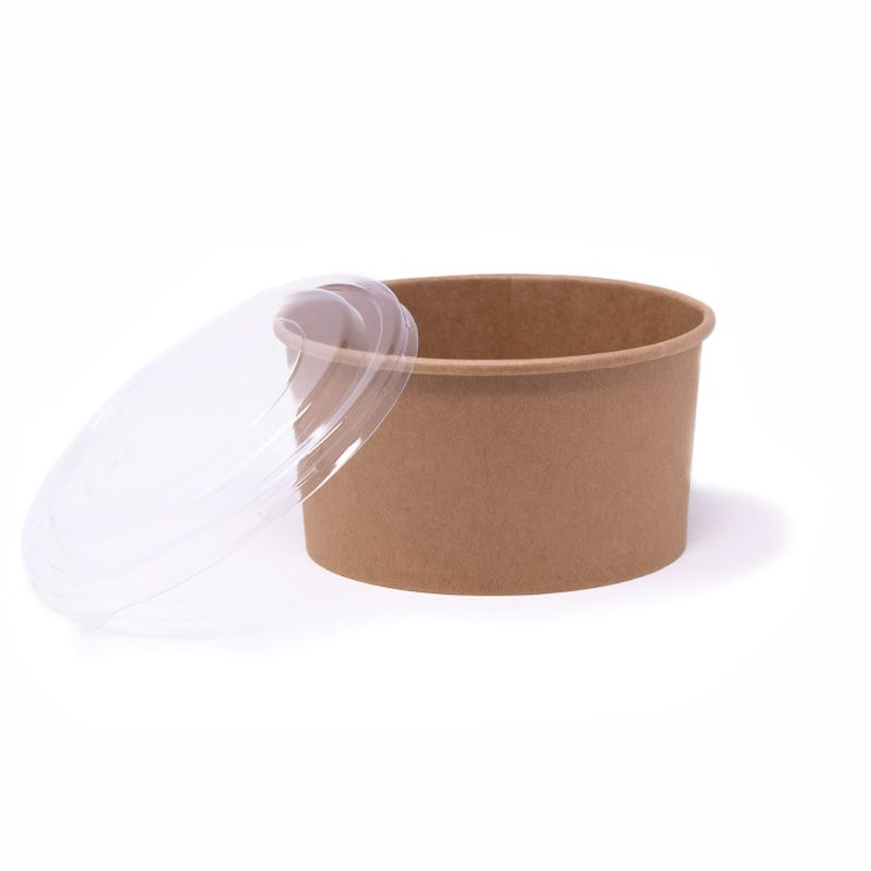 PET lids for 1000 ml cardboard bowls not customized