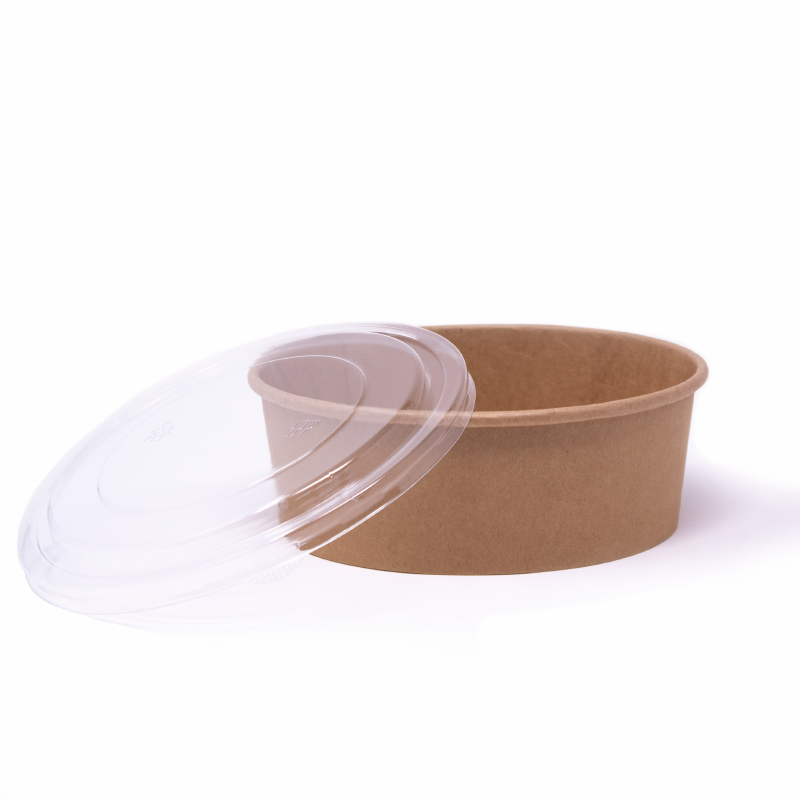 PET lids for cardboard bowls 1300 ml not customized