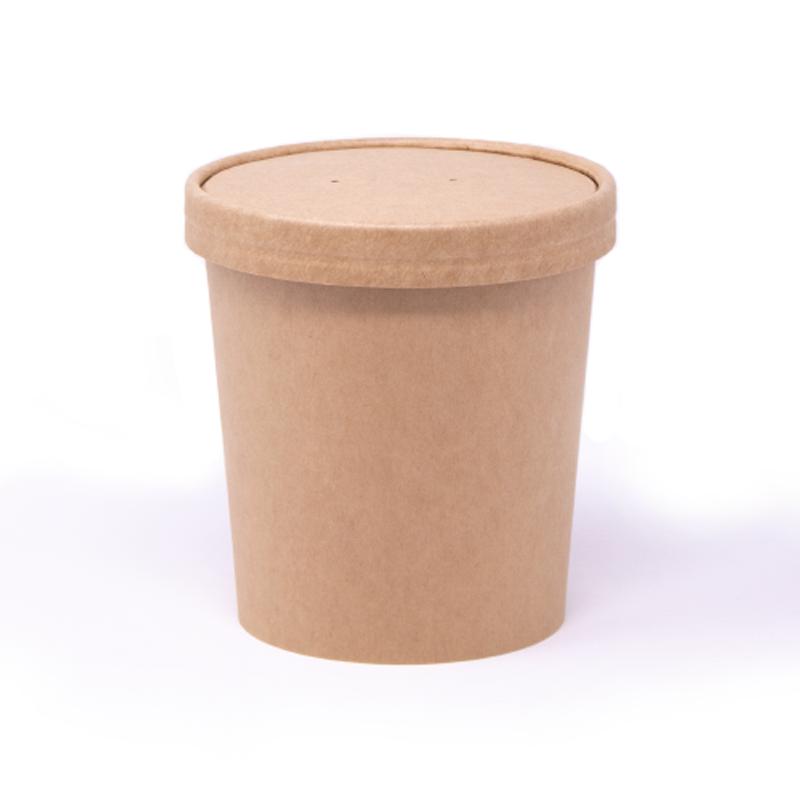 Contenitori barattolo per gelato e zuppa 750 ml Neutri