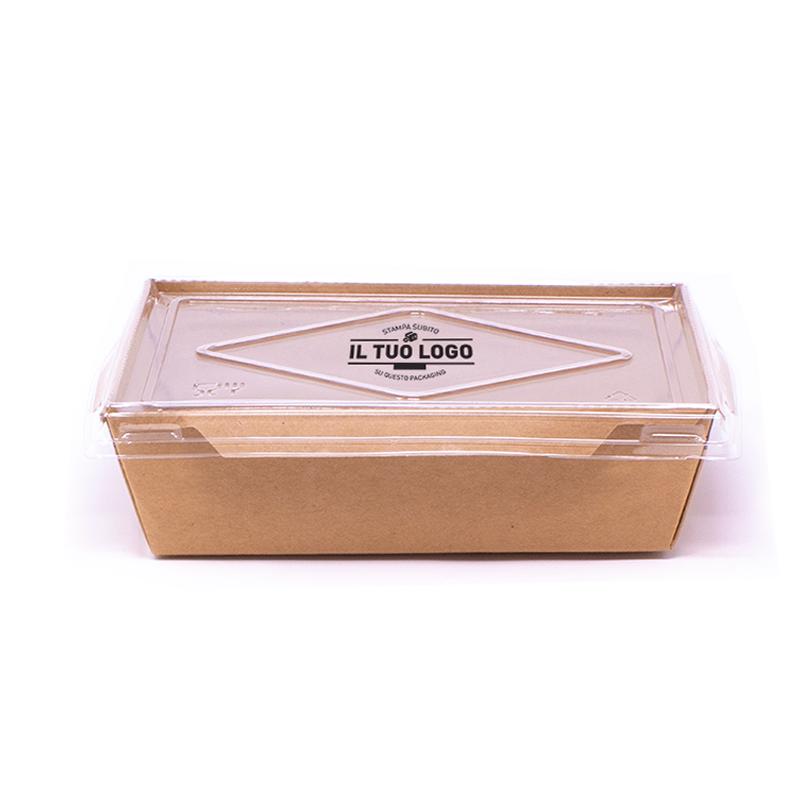 Contenitore eco + coperchio da personalizzare - 900 ml - 15x11,6x4,8 cm