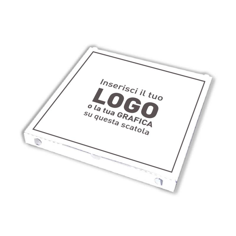Pizza Boxes 33x33x3,5 cm white to customize