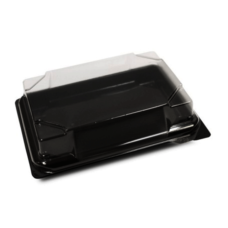 Black sushi containers with lid Sushipack Small