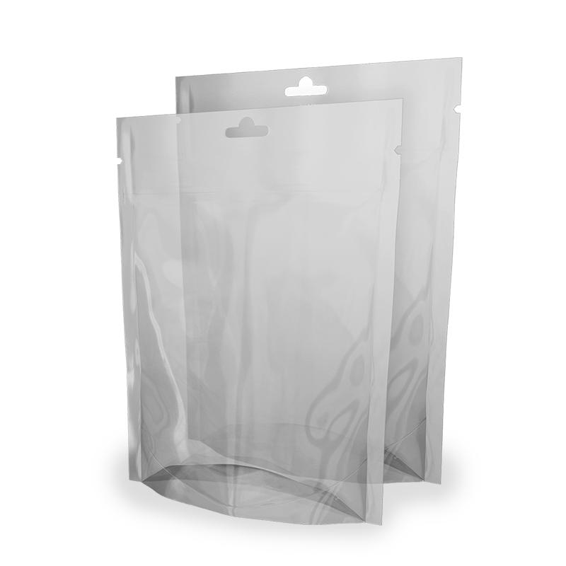 Buste Doypack Trasparenti 16x22 cm con euroforo e zip Neutre
