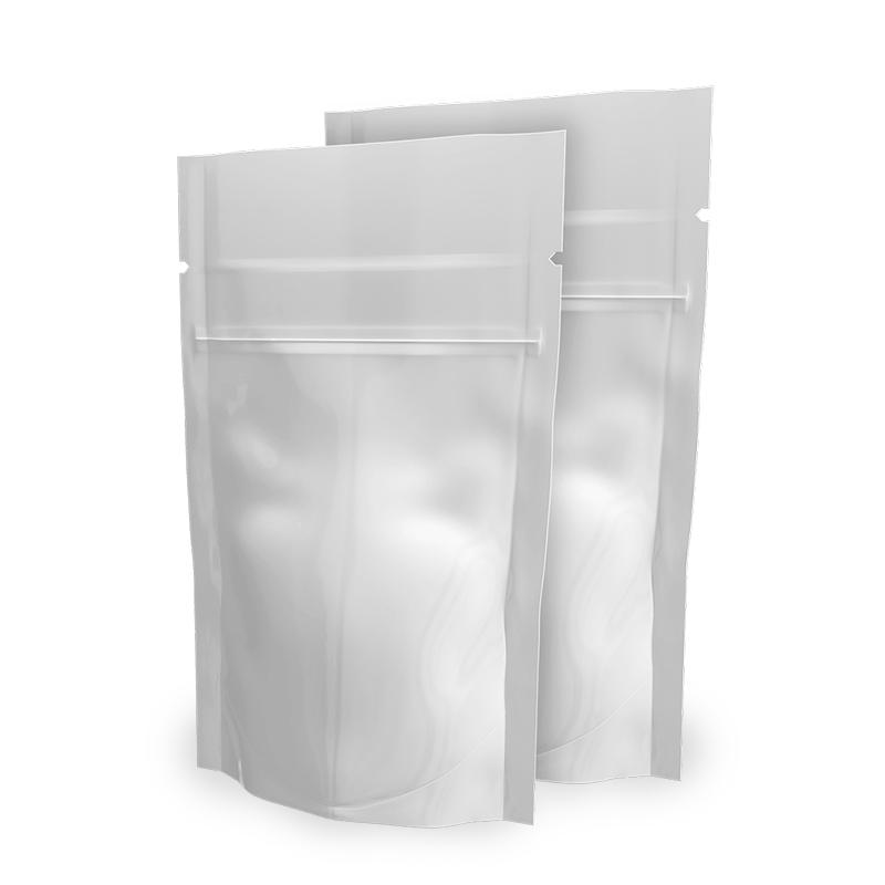 White Doypack Envelopes 9x16 cm with zip Neutral