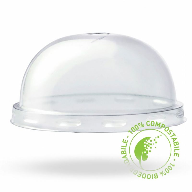 coperchi a cupola compostabili PLA