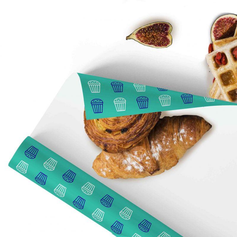 Carta per dolci Pelleaglio - fondo pieno logo 2 colori