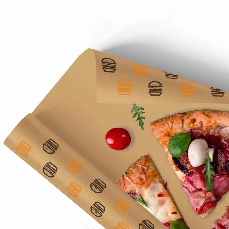 Carta per alimenti Antigrasso Compostabile Avana - 2 colori