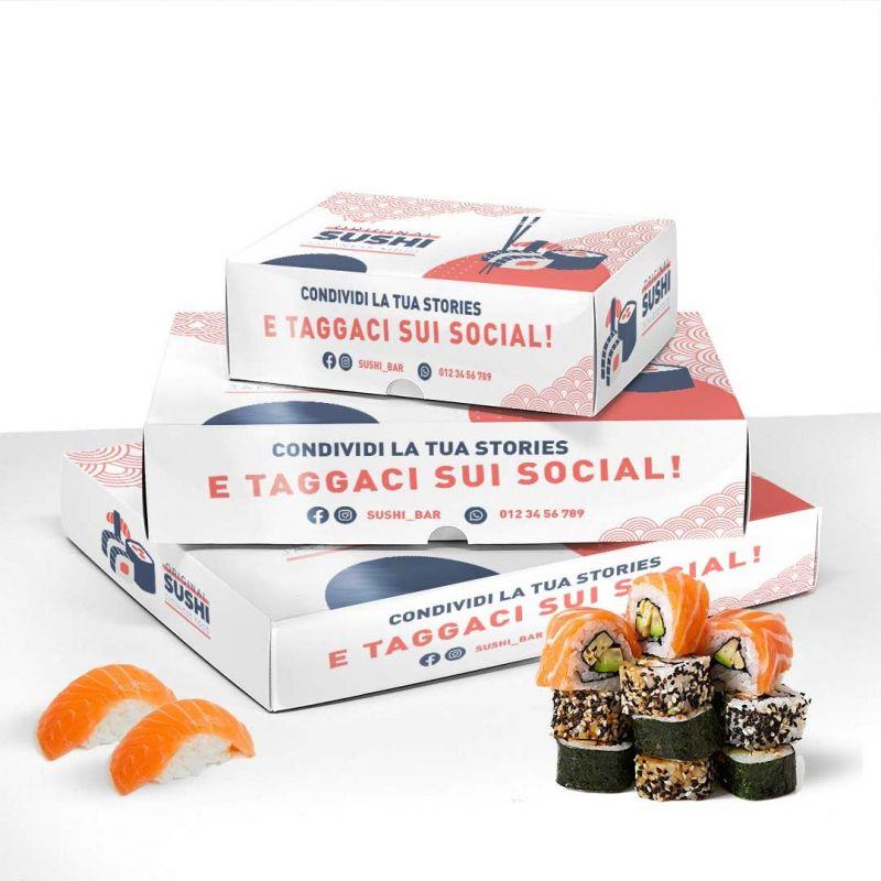 Customised sushi boxes