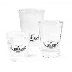 Bicchieri trasparenti personalizzati