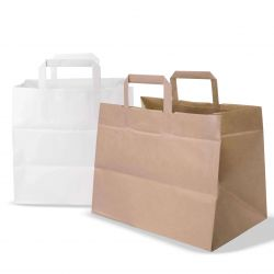 Neutral kraft shopping bags