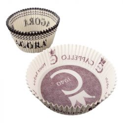 Round fluted baking cups personalized