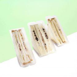 Neutral disposable sandwich boxes