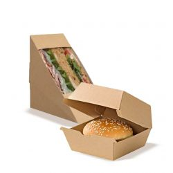 Sandwich and burger eco boxes