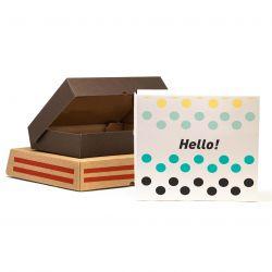 Scatole cartoncino quadrate a 4 colori