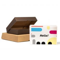 Rectangular cardboard boxes customized up to 4 colours