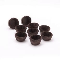 Brown circular baking cups
