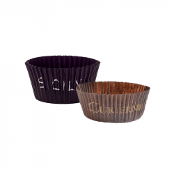 Customizable brown baking cups