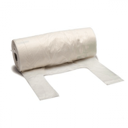 Compostable shopping bags in rolls