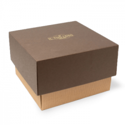 Panettone box with separated lid